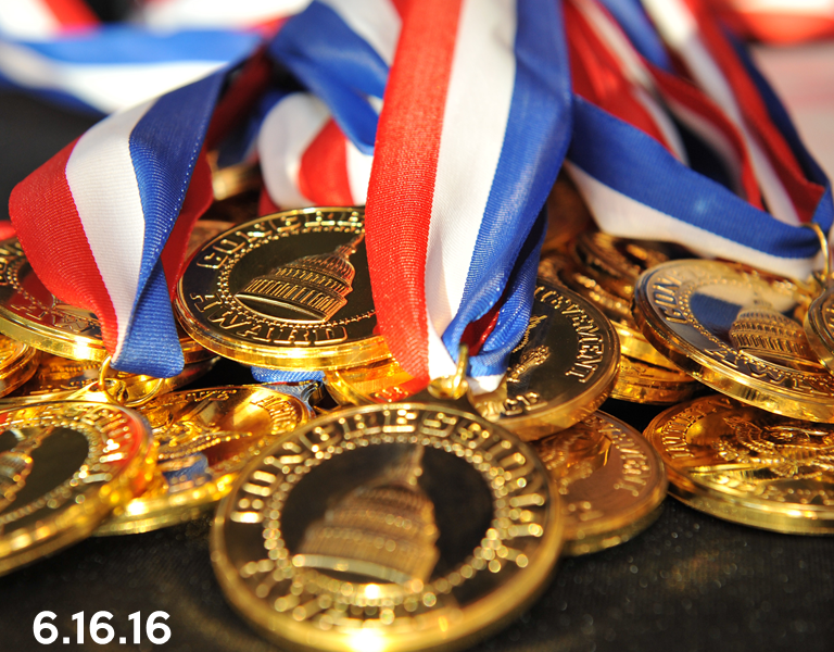 2016 Gold Medal Ceremony Schedule